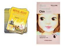 2pcs Royal Jelly Facial Mask Sheet  Face,1pc Etude House Black Charcoal Skin MSa