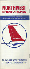Northwest Orient Airlines system timetable 4/28/63 [0098]