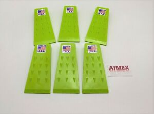 """6 Pack-5.5"""" High Impact ABS Spiked Tree Felling Wedge for Tree Cutting- USA MADE"""