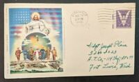 1943 Prince of Peace Zanesville OH to Fort Lewis WA WWII Patriotic Cover