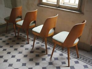Oswald Haerdtl chairs made in Czechoslovakia 1955 Plywood chairs by Ton Thonet