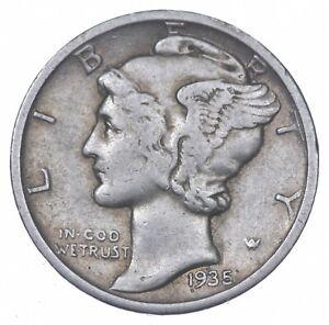 Razor Sharp 1935-D Mercury Liberty Dime 90% Silver Stunning in High Grade *362