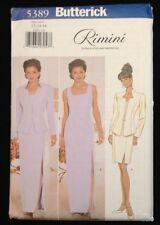 5389 Butterick Women's Rimini Long Gown Dress Jacket Pattern Sz 12-14-16 ~Uncut