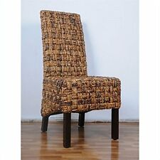 International Caravan Bali Victor Woven Abaca Dining Chair New