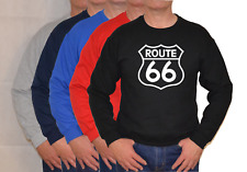 ROUTE 66 ,LARGE LOGO,USA,THE MOTHER ROAD,SWEATSHIRT ,UNISEX
