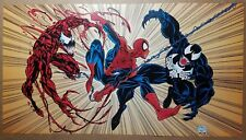 Spider-Man Venom Carnage Marvel Comic Poster by Mark Bagley