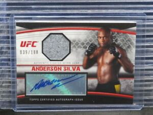 2010 Topps UFC Knockout Anderson Silva Fighter Gear Relic Auto #39/188 Q39