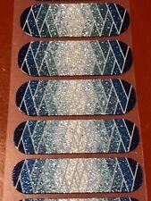 Jamberry Half Sheet - Seaside Sparkle - Retired Unicorn Blue Ombre