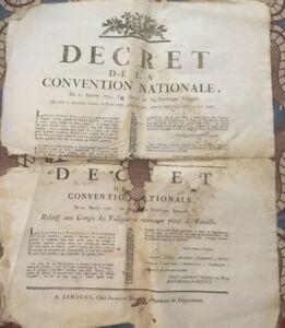 FORCE ARMÉE. CONGÉS DES VOLONTAIRES NATIONAUX PÈRESDOCUMENT DE 1793.