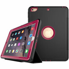 "For iPad 9.7"" 2017/ Mini /2 3 4 Kids Shockproof Hard Armor Flip Smart Case Cover"