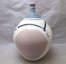 Signed Wahl studio pottery bottle neck vase. Kevin?