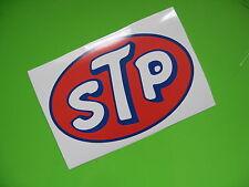 STP OIL sticker/decal x2