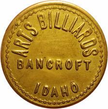 Arts Billiards Bancroft, Idaho ID 10¢ Pool Hall Trade Token