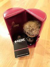 Kent Medium Sized Silvertip Shaving Brush - BLK4 Black