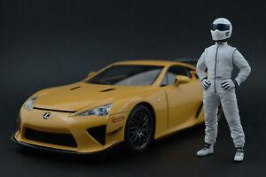 The weiß STIG Figur für 1:18 Kyosho BMW M5 M3 Top Gear RARE!  !! NO CAR !!
