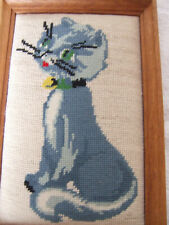 Gobbelin Bild im Holzrahmen  Katze Susi 24,5x37,5x2 cm