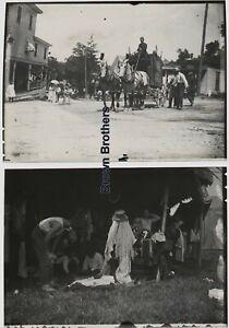 1910s Ringling Bros Circus Wagon & Clown Tent Camera Photo Film Negatives (2)