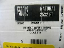 "Alpha/FIT F50012-NAT-25X2   Heat shrink tubing. Natural 3/16""   12pcs  4'  48Ft"