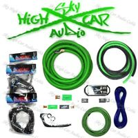 Sky High Car Audio Green 1/0 AWG to Dual 4 Gauge Complete Amp Kit Split Ga