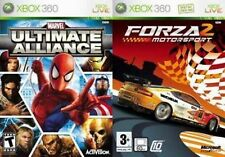 Marvel Ultimate Alliance/Forza Motorsport 2 Xbox 360 Kids Video Board Games Disc