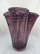 Außergewöhnliche Makora Krosno Glaskunst Vase Handarbeit Made in Polen R14RA