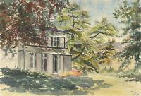 A.M. Johnson - 1973 Watercolour, Summer Shadows