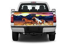 2 Horses Running Truck Tailgate Vinyl Graphic Decal Sticker Wrap