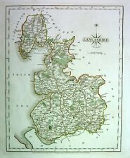 Antique map, Lancashire .