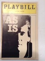AS IS. Lyceum Theatre Playbill May 1st. 1985 Opening Night