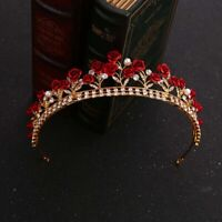 Rose Crystal Bridal Tiara Princess Hair Crown Princess Diadem Wedding Tools h