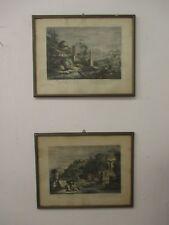 Coppia stampe '700 - XVIII - Giuseppe Zais - F Berardi - 1778 stampa incisione