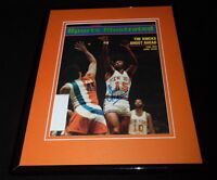Earl The Pearl Monroe Signed Framed 1973 Sports Illustrated Magazine Cover