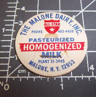 Lincoln Maine Milk Bottle Cap from Curtis Dairy tel SW-4-2216