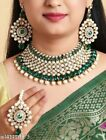 Indian Bollywood Style Designer Gold Plated Fashion Bridal Jewelry Necklace Set