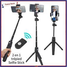 2 en 1 Support trépied Selfie Stick avec télécommande pour téléphone portable