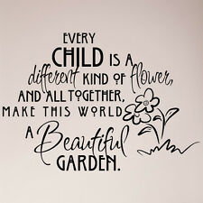 "33"" Every Child is Different Kind Of Flower Beautiful Garden Wall Decal Sticker"