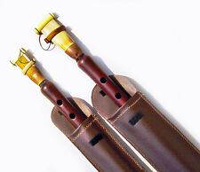 TWO PRO DUDUK ARMENIAN +4 Reeds+2 LEATHER CASE Playing Instructions Apricot Wood