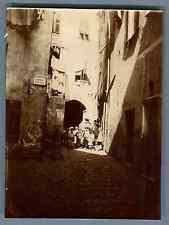 Italia, Bambini nel Vicolo Ciosci  Vintage citrate print. Vintage Italy  Tirag