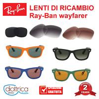 Lenti ricambio Ray-Ban Wayfarer RB2140 Occhiali da sole uomo donna verde grigie