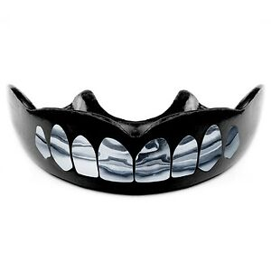 SILVER Platinum Teeth Sport Mouth Guard, Free Storage Case, WARRIOR MOUTHGUARDS