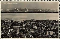 Neuchâtel Kanton Neuenburg Schweiz AK Helvetia Marken 1951 Gesamtansicht mit See