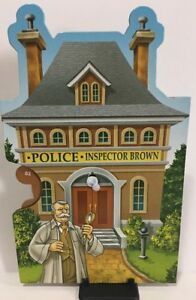 CLUE MYSTERIES Game Replacement Part INSPECTOR BROWN POLICE Character Wheel