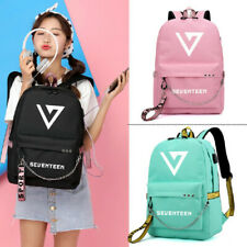 Kpop SEVENTEEN Canvas School Backpack Laptop Backpack With USB Headphone Hole