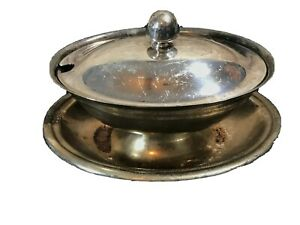 Reed & Barton Silverplate Gravy Boat with Lid Antique Covered Sauce Dish