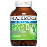 BLACKMORES MEGA B COMPLEX 200 TABLETS HIGH POTENCY FORMULA ENERGY B VITAMINS