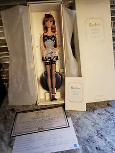 Mattel Barbie Silkstone Fashion Model Lingerie Collection Redhead Doll MIB