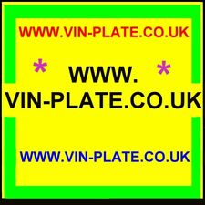 WWW.VIN-PLATE.CO.UK + LANDROVER CHASSIS PLATES .COM + TRAILERS.ORG.UK VEHICLE ID