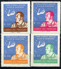 Paraguay Alan Shepard First US Man in Space stamps set 1961 MLH