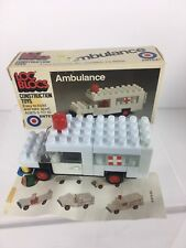 Rare Vintage Entex Loc Blocs White Ambulance Complete Pre Owned In Box