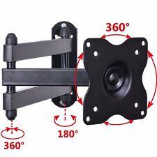 """Full Motion Tilt Swivel Wall Mount Bracket for 19"""" to 29"""" LED LCD TV Monitor A63"""
